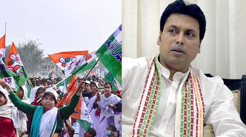TMC alleges covid norms violation by Tripura CM Biplab Deb | Sangbad Pratidin