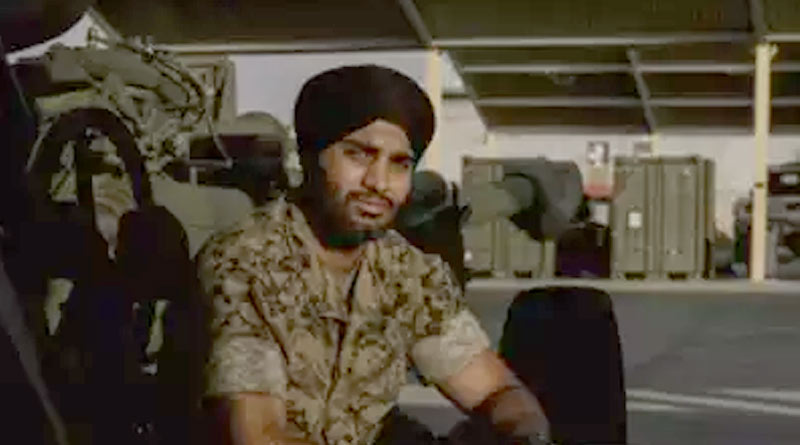 US marines reluctantly let a Sikh officer wear a turban | Sangbad Pratidin