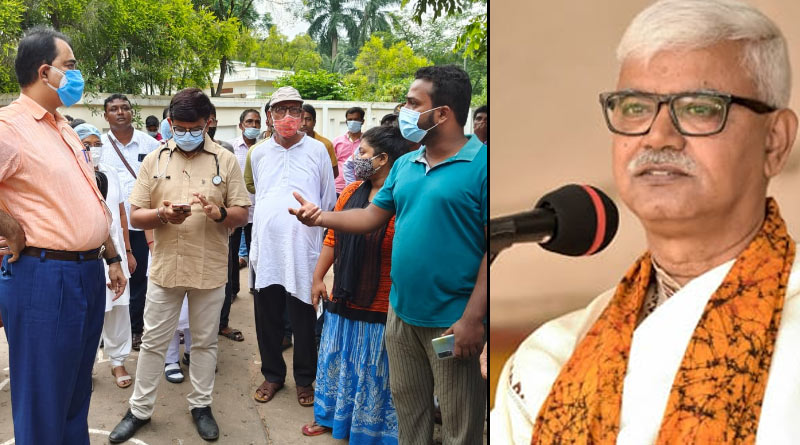 Vice-chancellor of Visva Bharati feeling unwell in between students protest