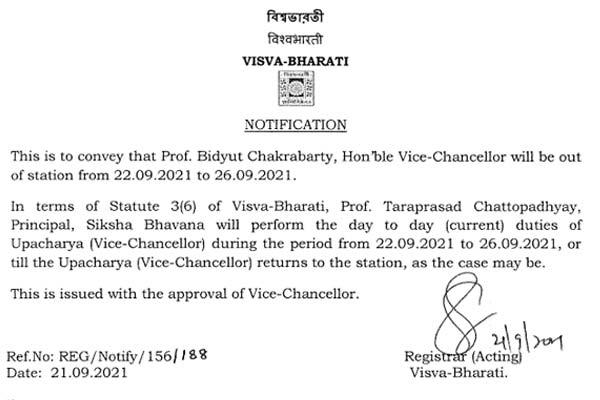 Visva Bharati Notice