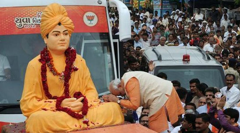 PM Modi recalls Swami Vivekananda's iconic 1893 speech at Chicago। Sangbad Pratidin