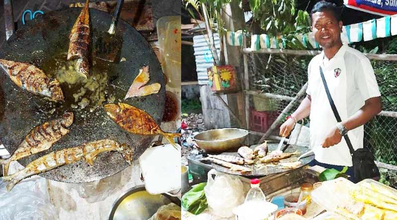 A Teacher of Bardhaman started selling fish fry to increase income during Corona crisis | Sangbad Pratidin
