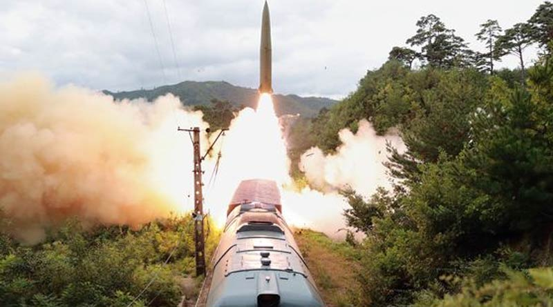 North Korea fires missile from train, releases video | Sangbad Pratidin