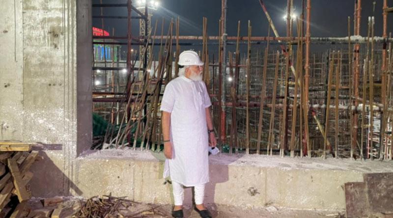 PM Modi visits new Parliament building construction site unannounced, spends an hour | Sangbad Pratidin