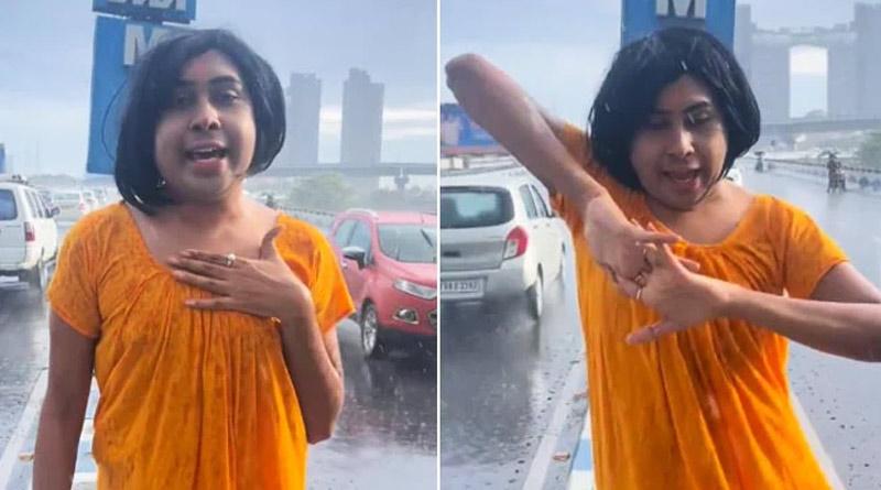 Kolkata's youtuber Sandy Saha Fined For Dancing On Maa Flyover | Sangbad Pratidin