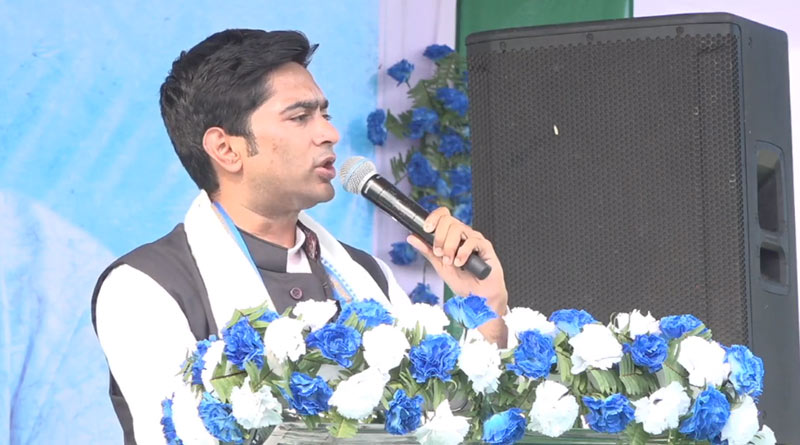 TMC MP Abhishek Banerjee slams BJP from Dinhata rally | Sangbad Pratidin