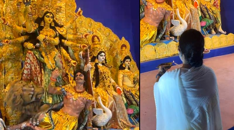 Durga Puja 2021: Mamata Banerjee inaugurates a dozen of puja pandals in Kolkata on Thursday | Sangbad Pratidin