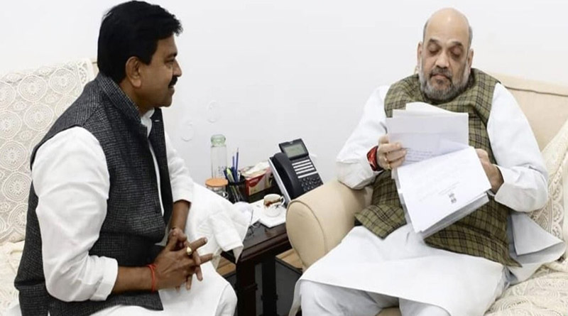 Union Home Minister Amit Shah met with his Minister of State Ajay Mishra | Sangbad Pratidin
