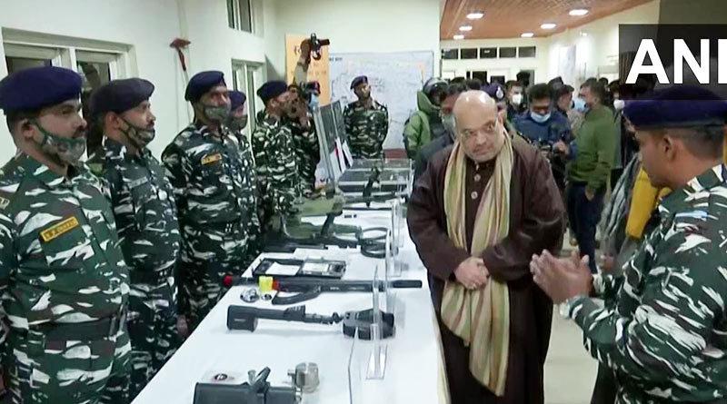 Union Home Minister Amit Shah stayed at CRPF camp in Lethpora, Pulwama | Sangbad Pratidin
