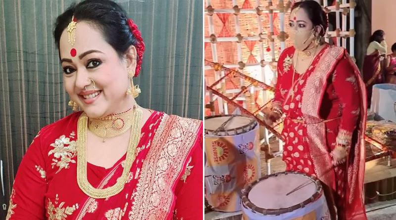 Video of Aparajita Adhya playing Dhak goes Viral | Sangbad Pratidin