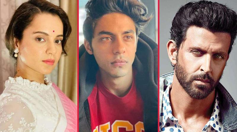 Kangana Ranaut slams Hrithik Roshan after his supportive post about Aryan Khan | Sangbad Pratidin