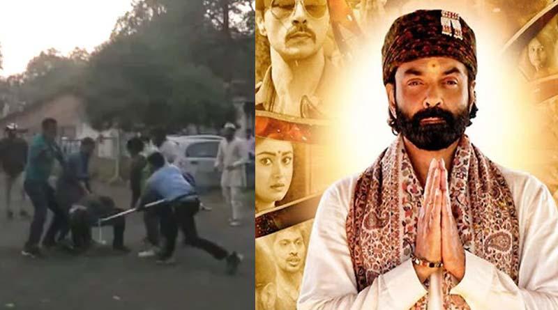 Bajrang Dal attacks Prakash Jha's set opposing his controversial web series 'Ashram' | Sangbad Pratidin