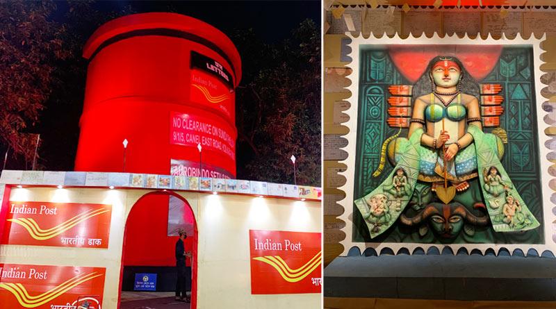 Durga Puja 2021: Aurobindo Setu Sarbojanin Puja pandal is based on Post office | Sangbad Pratidin