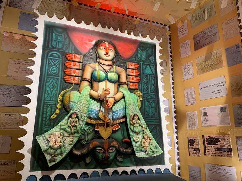 Durga Puja 2021: Aurobindo Setu Sarbojanin Puja pandal is based on Post office