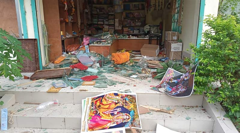 ISKCON temple & devotees violently attacked by a mob in Bangladesh | Sangbad Pratidin