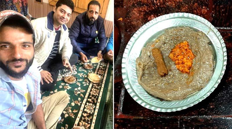 Actor Bhaswar Chatterjee shares his Harissa eating experience in Kashmir | Sangbad Pratidin