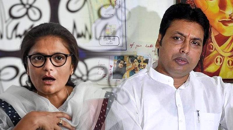 TMC leader Sushmita Dev lashes out at Tripura CM Biplab Kumar Deb | Sangbad Pratidin