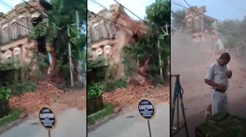 A century old building collapse in Howrah, West Bengal   Sangbad Pratidin