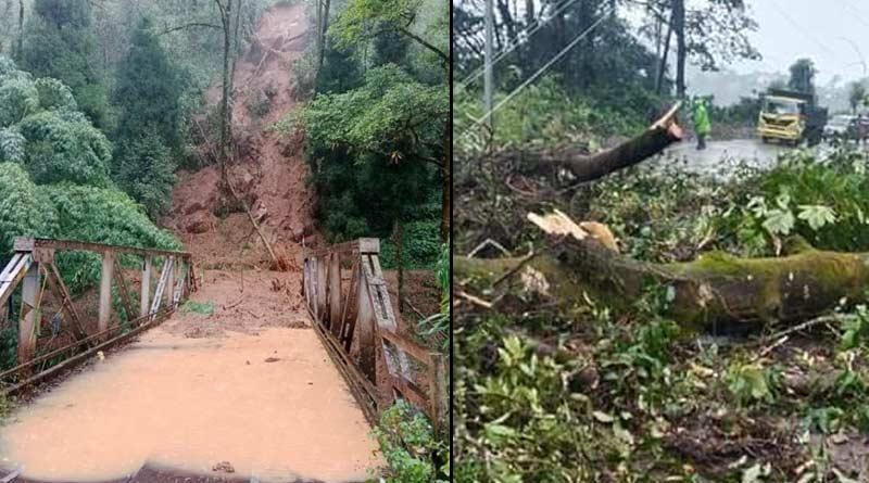 Landslide in varoius places in Darjeeling due to continuous rain, trekking suspended temporarily | Sangbad Pratidin