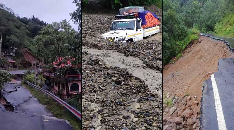 Devastation caused by heavy rains in North Bengal caught on cam । Sangbad Pratidin