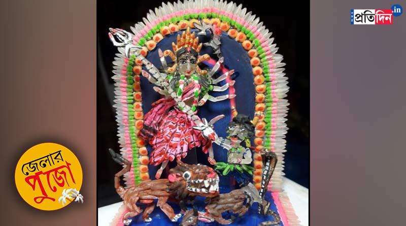 Durga Puja 2021: Gangasagar artist makes Durga idol using rice   Sangbad Pratidin