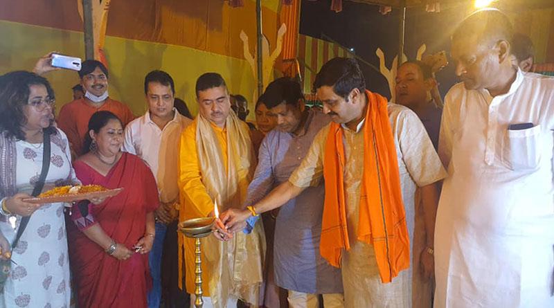 BJP State president Sukanta Majumdar inaugurates Durga Puja | Sangbad Pratidin
