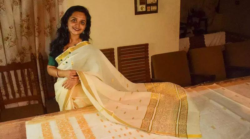 First edible saree creates by Kerala's home baker । Sangbad Pratidin