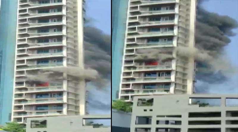 Massive fire broke out at Avighna park apartment, Mumbai | Sangbad Pratidin
