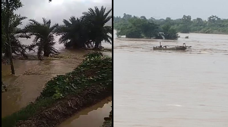 Flood situation is getting worse in Birbhum, Purba Burdwan after barrage of Ajay river collapsed | Sangbad Pratidin