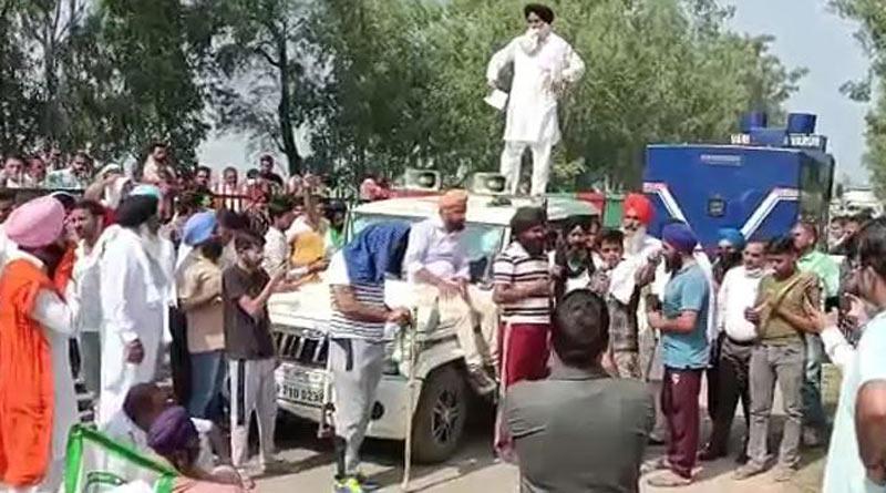 Farmers allege BJP MP's car hit them during protest। Sangbad Pratidin