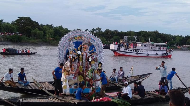 Durga Puja 2021: Gathering banned at Ichamati River this Durga Puja visarjan | Sangbad Pratidin
