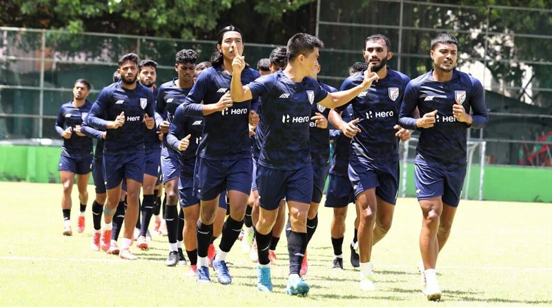 Sunil Chetry asks team to be cautious in SAFF Cup match | Sangbad Pratidin