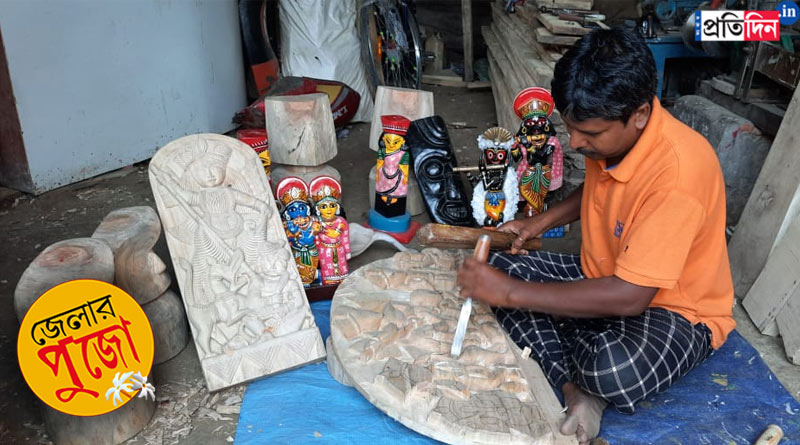 Katwa wooden Durga idol travels to Canada | Sangbad Pratidin