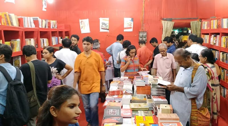 Durga Puja 2021: Left front is communicating with mass through book stalls during Puja | Sangbad Pratidin