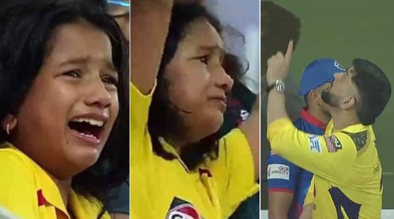 MS Dhoni gifts signed ball to young supporter after taking Chennai Super Kings into final | Sangbad Pratidin