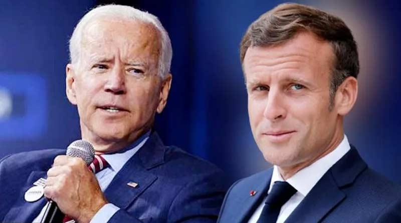 US President Joe Biden and French President Emmanuel Macron talk over phone | Sangbad Pratidin