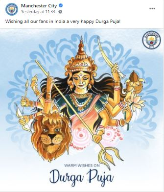 Durga Puja 2021: English clubs wishes Indian fans