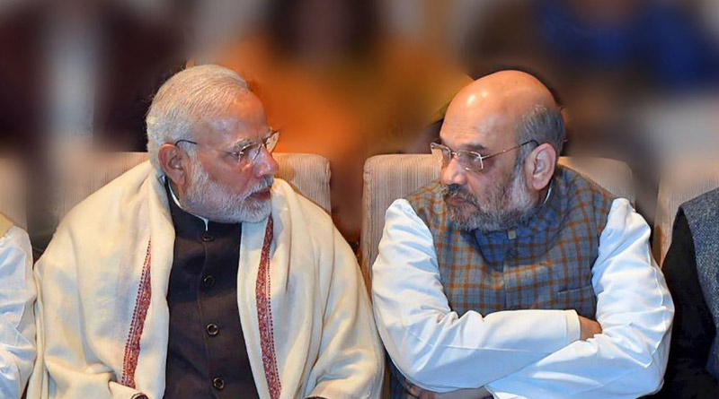 Home Minister Amit Shah meets PM Modi in a meeting to discuss the security situation। Sangbad Pratidin