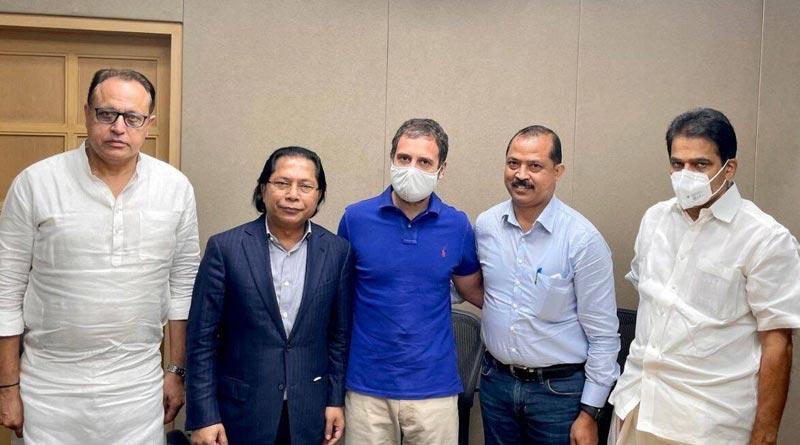 Rahul Gandhi meets Mukul Sangma, Vincent Pala to end 'rift'