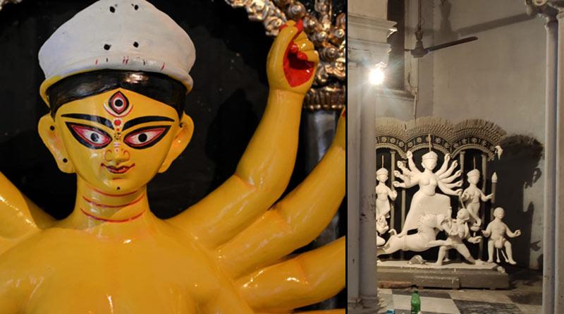 Durga Puja 2021: Not lotus, 108 Nilakantha flowers used in Sandhi Puja at this house of North Kolkata | Sangbad Pratidin