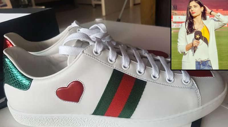 New controvesry arises with the shoe of Pak journalist Jainab Abbas that featuring like Bangladesh flag | Sangbad Pratidin