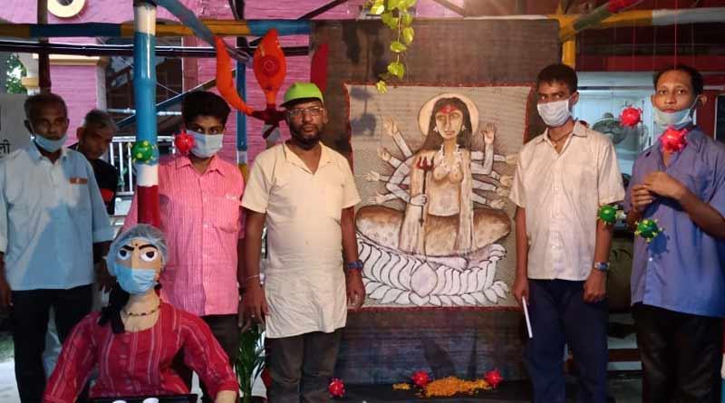 Some mental patient makes Durga idol at Pavlov Mental Hospital । Sangbad Pratidin