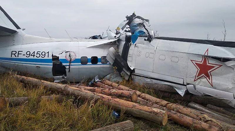 16 dead after plane crashes in Russia | Sangbad Pratidin