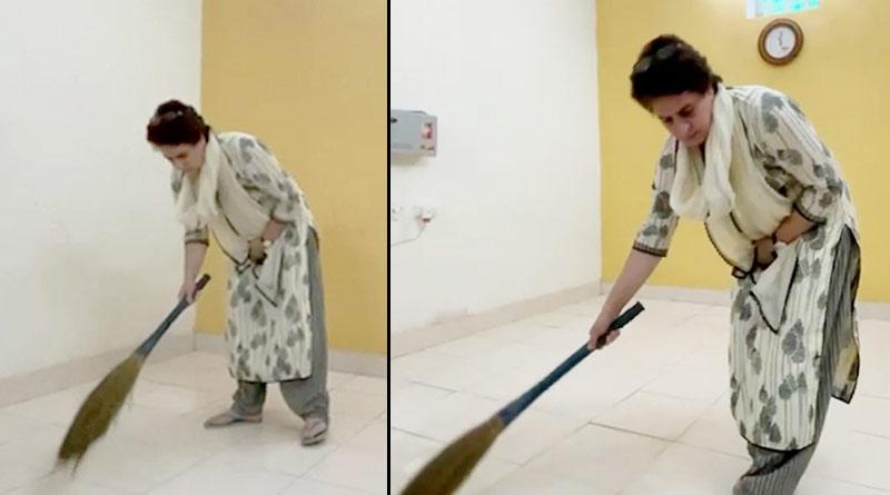 Congress leader Priyanka Gandhi under 'house arrest' in Uttar Pradesh | Sangbad Pratidin
