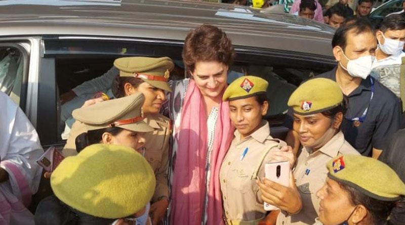 Priyanka Gandhi Vadra has been detained by police in Uttar Pradesh | Sangbad Pratidin