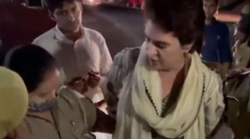Uttar Pradesh: Police captured Priyanka Gandhi on her way to Lakhimpur