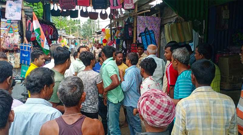 WB Bypolls: Local stages protest to BJP candidate at Dinhata | Sangbad Pratidin