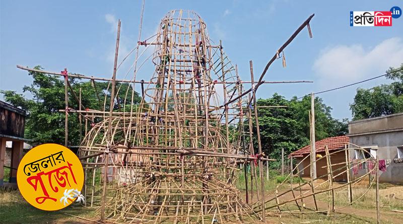 Durga Puja 2021: Jungle Mahal Durga Puja spreads water conservation message | Sangbad Pratidin
