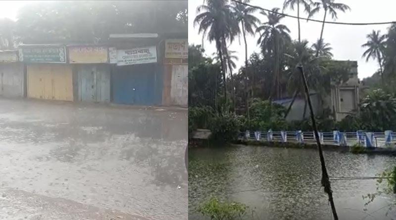 Rain in many districts lashes Nabami celebration in South Bengal | Sangbad Pratidin