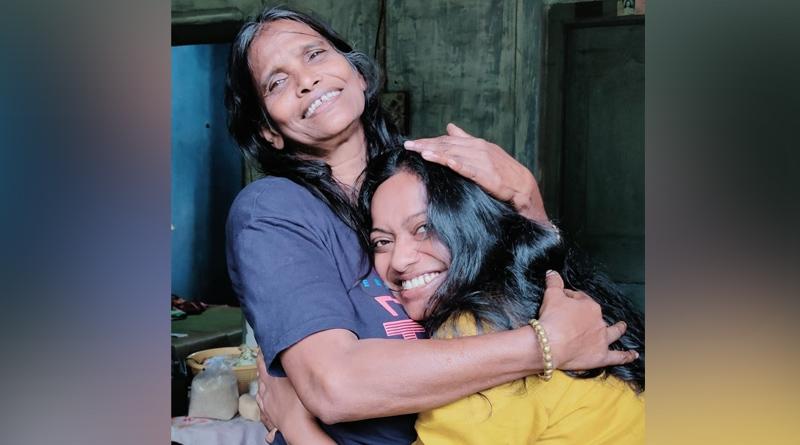 Actress Eshika Dey meets Ranu mondal at her residence | Sangbad Pratidin